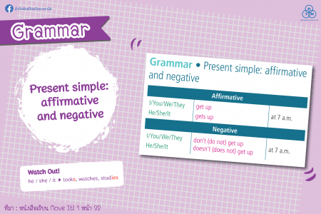 Grammar: Present simple: affirmative and negative